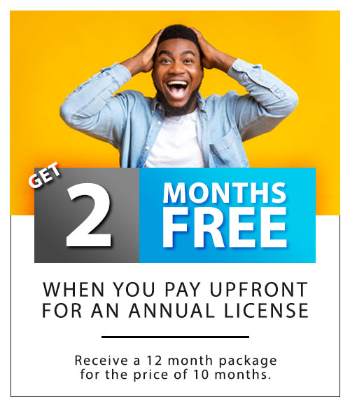 2 Months FREE for Annual Commitments