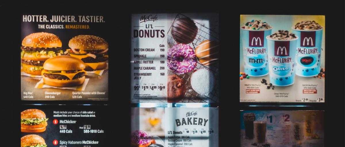digital menu board